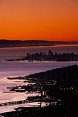san francisco skyline from the water stock photography | California, San Francisco Bay, Sunrise over San Francisco, image id 1-97-19