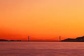 golden gate bridge tower stock photography | California, San Francisco Bay, Golden Gate Bridge at sunset, image id 2-152-16