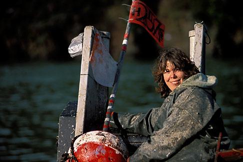 image 2-230-10 California, San Francisco Bay, Herring Fishermen, Anna Lee, deckhand
