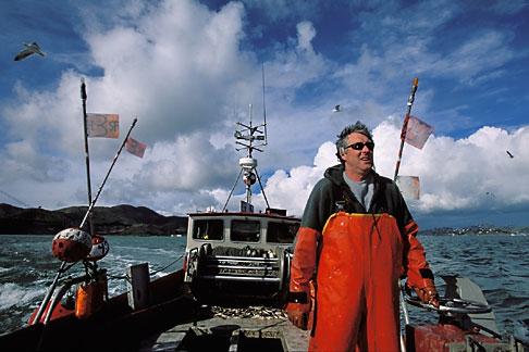 image 2-230-38 California, San Francisco Bay, Herring Fishermen, Ernie Koepf, captain of the Ursula B