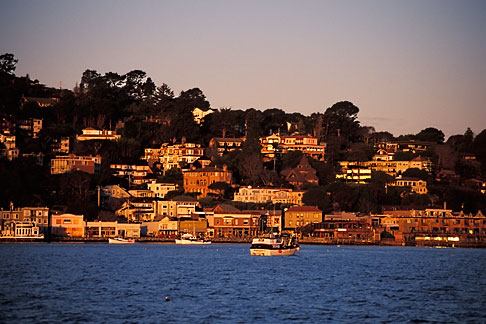 image 2-230-69 California, Marin County, Sausalito, hillside at dawn
