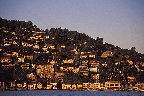 image 2-230-70 California, Marin County, Sausalito, hillside at dawn