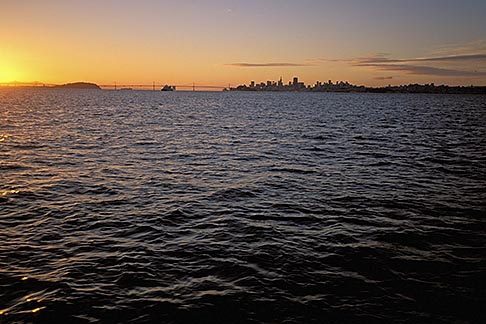 image 2-230-73 California, San Francisco Bay, San Francisco skyline from the water