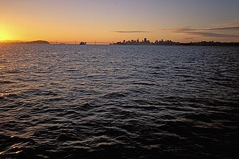 image 2-230-73 California, San Francisco Bay, San Francisco skyline from the water