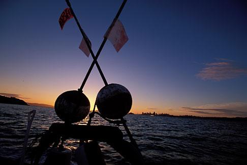 image 2-233-32 California, San Francisco Bay, Herring Boat at dawn