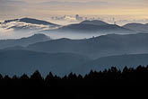 morning fog stock photography | California, Marin County, San Francisco and hills from Mount Tamalpais, image id 2-236-13