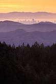 dusk stock photography | California, Marin County, San Francisco and hills from Mount Tamalpais, image id 2-236-16