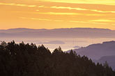 horizontal stock photography | California, Marin County, San Francisco and hills from Mount Tamalpais, image id 2-236-18