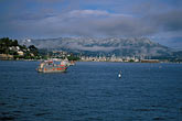 sf bay stock photography | California, Marin County, Sausalito and snow-capped Mount Tamalpais, image id 2-236-31