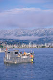 sf bay stock photography | California, Marin County, Sausalito and snow-capped Mount Tamalpais, image id 2-236-32