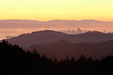 morning fog stock photography | California, Marin County, San Francisco and hills from Mount Tamalpais, image id 2-236-45