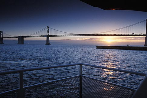 image 2-237-27 California, San Francisco Bay, Bay Bridge at sunrise
