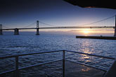 horizontal stock photography | California, San Francisco Bay, Bay Bridge at sunrise, image id 2-237-27