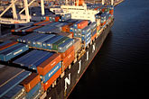 unload stock photography | California, Oakland, Port of Oakland, Hanjin Terminal , image id 2-238-42
