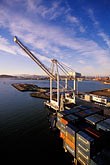 unload stock photography | California, Oakland, Port of Oakland, Hanjin Terminal , image id 2-238-82