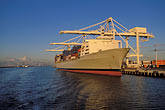 unload stock photography | California, Oakland, Port of Oakland, APL Terminal , image id 2-239-35