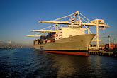 unload stock photography | California, Oakland, Port of Oakland, APL Terminal , image id 2-239-37