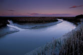 nature stock photography | California, San Francisco Bay, San Pablo National Wildlife Refuge, slough at sunset, image id 2-350-19
