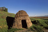 patwin tule hut reconstruction stock photography | California, Solano County, Rush Ranch, Patwin tule hut reconstruction, image id 2-355-18