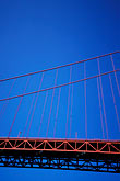 blue sky stock photography | California, San Francisco Bay, Golden Gate Bridge from below, image id 2-401-46