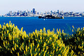 san francisco skyline from the water stock photography | California, San Francisco Bay, San Francisco from Angel Island State Park, image id 2-411-19
