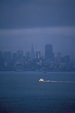 downtown district stock photography | California, San Francisco Bay, San Francisco skyline and morning ferry, image id 2-411-5