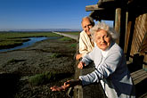 two mature men stock photography | California, Palo Alto, Florence and Phillip LaRiviere, Wildlife Refuge advocates, image id 2-450-2