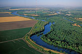 elevated view stock photography | California, Delta, Aerial view of Mokelumne River at Walnut Creek, image id 2-588-1