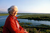 one mature woman only stock photography | California, San Francisco Bay, Sylvia McLaughlin, founder of Save the Bay, image id 2-592-1