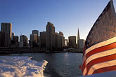american flag stock photography | California, San Francisco Bay, Ferry and downtown San Francisco, image id 2-610-37