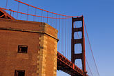 golden gate bridge towers stock photography | California, San Francisco, Fort Point, GGNRA, image id 2-611-36