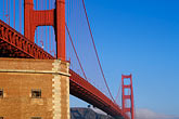 golden gate bridge towers stock photography | California, San Francisco, Golden Gate Bridge and Fort Point, GGNRA, image id 3-1014-9