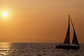 sunset stock photography | California, Berkeley, Sailboat, S F Bay, from Berkeley Pier, image id 3-217-35