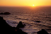 the end stock photography | California, San Francisco, Sunset over Pacific Ocean from Land