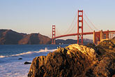 pacific ocean coastline stock photography | California, San Francisco, Golden Gate Bridge from Baker Beach, image id 4-526-27