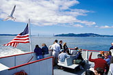 american and california flags stock photography | California, San Francisco Bay, Ferry to Angel Island, image id 5-155-5