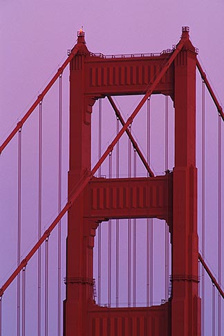 image 5-310-4 California, Marin County, Golden Gate Bridge, north tower