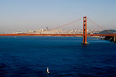crossing stock photography | California, San Francisco Bay, Golden Gate Bridge from Marin Headlands, image id 5-365-32