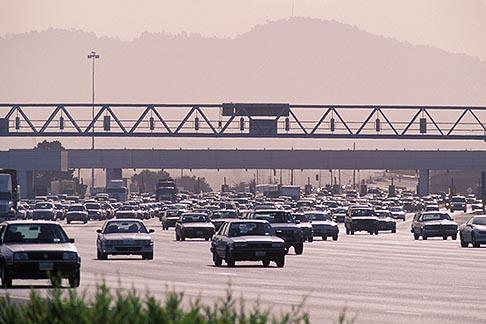 image 6-200-13 California, Oakland, Toll plaza, Oakland Bay Bridge