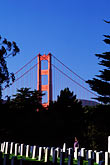 suspension bridge stock photography | California, San Francisco, National Military Cemetery, Presidio, GGNRA, image id 6-344-33