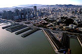 pier stock photography | California, San Francisco, Downtown San Francisco from the air, image id 6-371-10