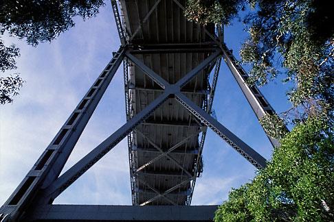 image 6-383-14 California, San Francisco Bay, Bay Bridge above Yerba Buena Island
