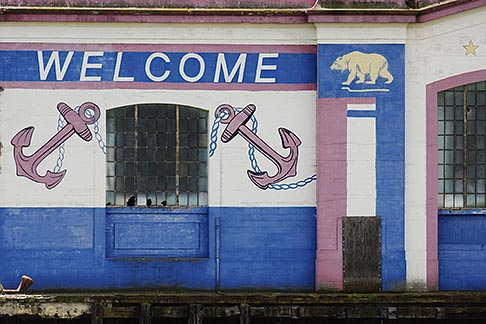 image 6-440-5336 California, San Francisco Bay, Painted wall on pier