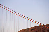 golden gate stock photography | California, San Francisco Bay, Golden Gate Bridge cables, image id 7-460-30