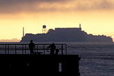fishermen stock photography | California, San Francisco Bay, Alcatraz at dawn, image id 7-461-36