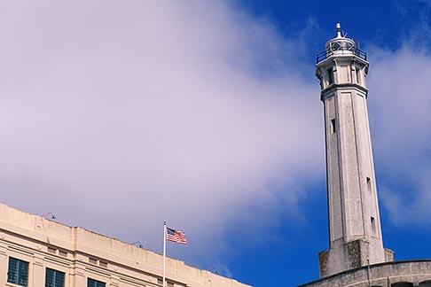 image 7-475-17 California, San Francisco Bay, Lighthouse, Alcatraz, GGNRA