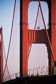 suspension bridge stock photography | California, San Francisco, Golden Gate Bridge, image id 7-478-5