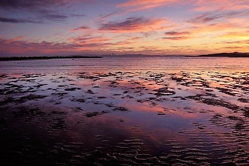 image 7-593-4 California, Eastshore State Park, San Francisco Bay at sunset