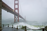 suspension bridge stock photography | California, San Francisco, Golden Gate Bridge in storm, image id 8-68-21