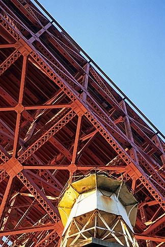 image 8-721-4 California, San Francisco, Fort Point beneath Golden Gate Bridge